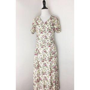 90s Vintage Maxi Floral Dress